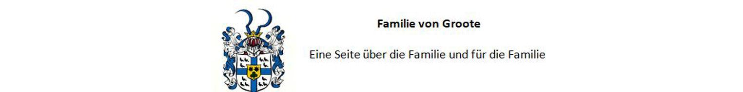 Webseite der Familie von Groote